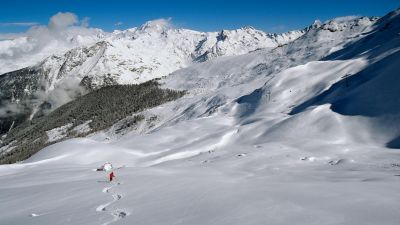 Off-piste terrain of Ste Foy