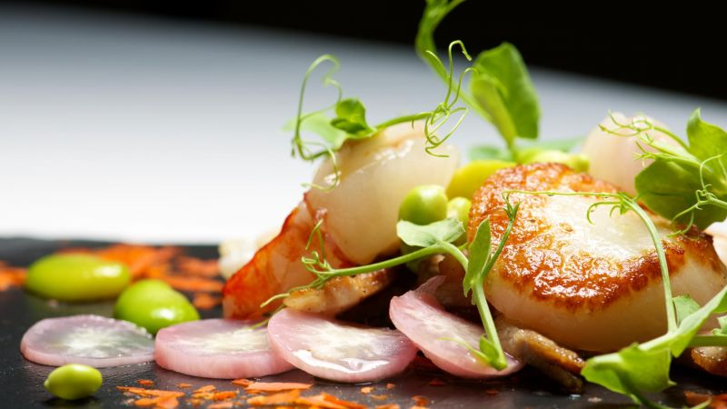 Deliciously balanced plates of food, prepared by professional chalet chefs