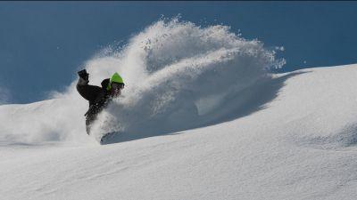 Snowboarding in Sainte Foy