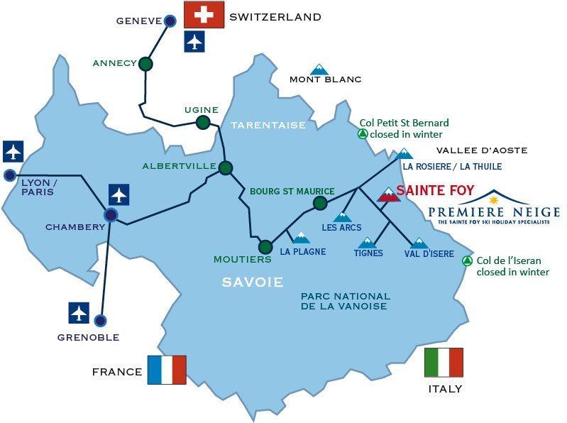 Location Map of Sainte Foy