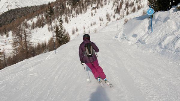 Intermediate skiing in Sainte Foy