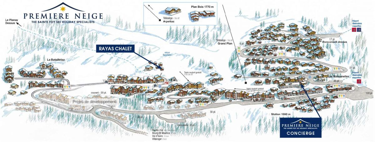 Rayas Chalet location map