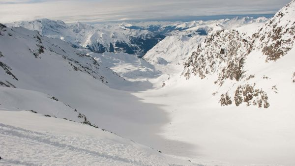 Col l'Argentiere over 2000m vertical skiing