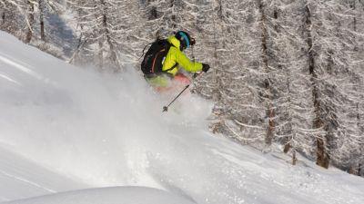 off piste skiing in Sainte Foy